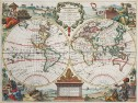 LE ROUGE DECORATIVE WORLD MAP