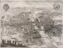 MERIAN'S SUPERB BIRDS -EYE VIEW PLAN OF PARIS