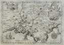 RARE MONTECALERIO MAP OF PROVENCE 1643