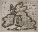 RARE LIDL MAP OF BRITISH ISLES