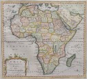 JEFFERYS MAP OF AFRICA  BY TRIBAL REGIONS  RARE