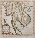 BELLIN'S MAP OF THAILAND AND TONKIN CAMBODIA