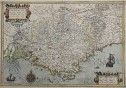 MERCATOR MAP OF PROVENCE PROVINCIA FRANCE