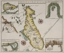 RENNEVILLE  SCARCE MAP OF MADAGASCAR