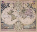 HOMANN SUPERB DECORATIVE WORLD MAP