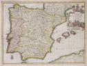 SPAIN  SCARCE MAP BY  VAN DER AA
