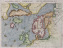 MAGINI'S MAP OF THE NORTH ATLANTIC 1597 FICTICIOUS ISLANDS