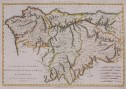 BONNE MAP OF NORTHERN SPAIN ST SEBASTIAN   , GALICIA