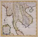 BELLIN MAP  INDO CHINA , THAILAND BURMA