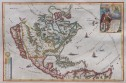 SCHERER  NORTH AMERICA  CALIFORNIA AS AN ISLAND RARE  1699