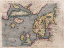 MAGINI'S MAP OF THE NORTH ATLANTIC 1597 FICTICIOUS ISLANDS   BASED ON ORTELIUS