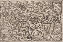 BIBLE WORLD MAP   DANIELS DREAM  SIGMUND FEYERABEND 1564