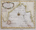 BELLIN CHART OF THE SEA OF BENGAL    COROMANDAL COAST BURMA