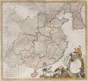 VAUGONDY    ATTRACTIVE FOLIO MAP OF CHINA