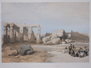 FRAGMENTS OF THE GREAT COLOSSI AT THE MEMONIUM ..  DAVID ROBERTS