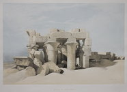 RUINS OF KOM OMBO  BY DAVID ROBERTS