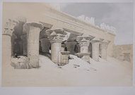PART OF THE PORTICO EDFOU   DAVID ROBERTS