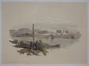 RUINS OF LUXOR FROM THE SOUTH-WEST   DAVID ROBERTS