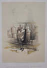 PART OF THE HALL OF COLUMNS AT KARNAK  ..DAVID ROBERTS